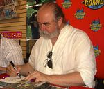 Comic book artist Michael Kaluta at a June 8, 2011 signing for Fear Itself: Fearsome Four #1 at Midtown Comics (Downtown branch) in Manhattan.